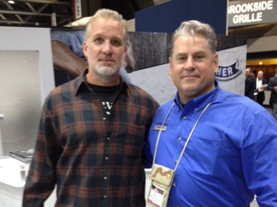 Joe Coury (on right) with Jesse James at this year's NASGW show in Kansas City.